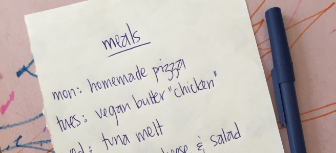 meal planning list